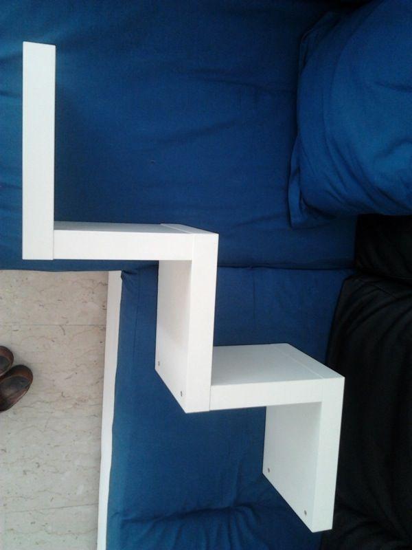 Baratto scambio mensola bianca zigzag lack arredamento complementi d arredo a roma rm for Mensola lack ikea