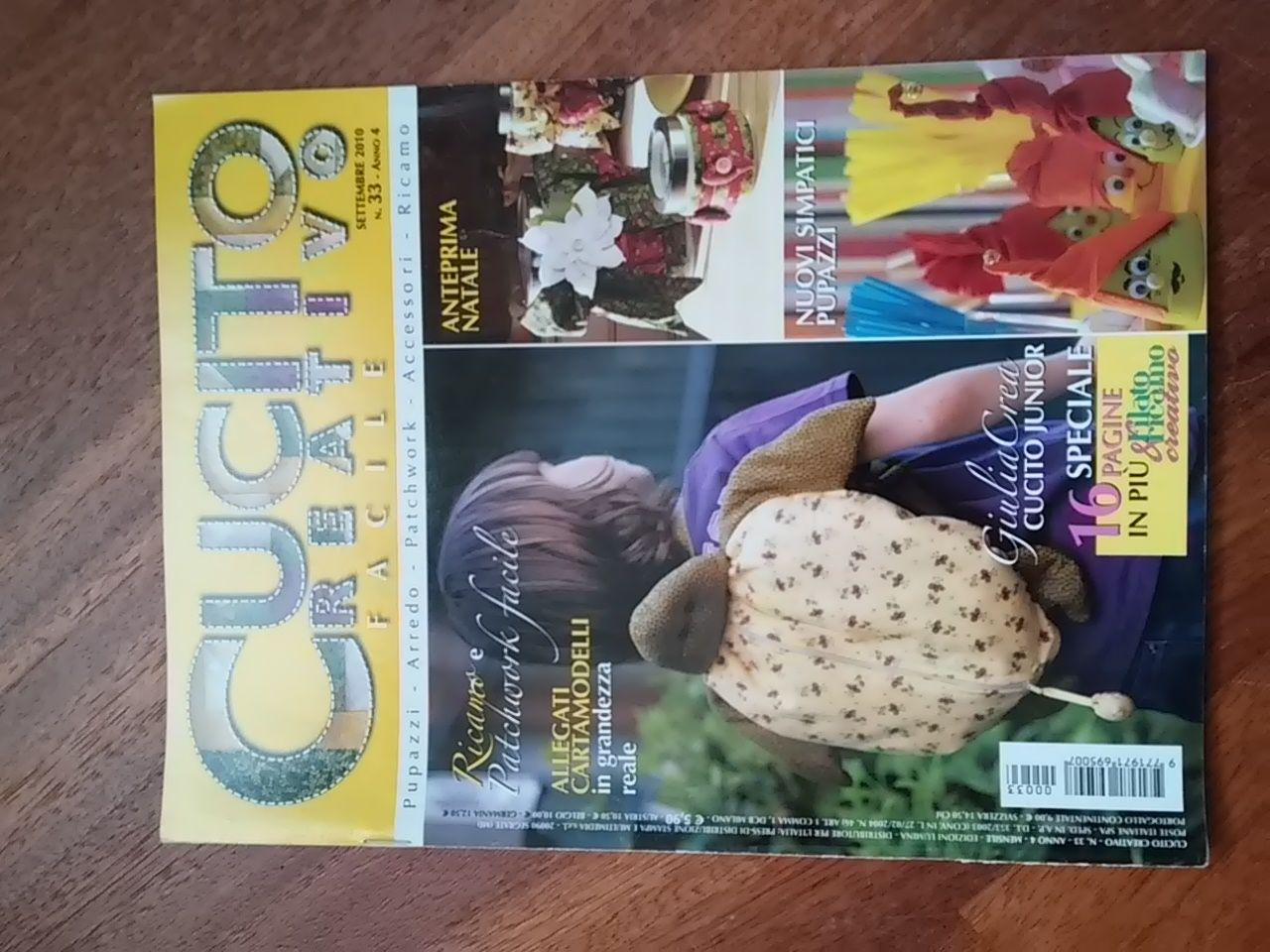 cf93c9a9ecb4 Descrizione numero di rivista settembre 2010 con cartamodelli