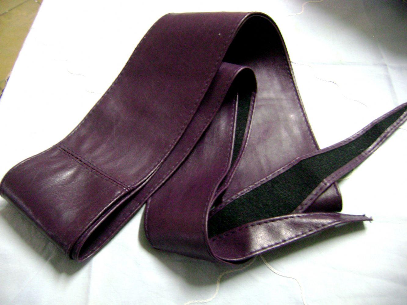 design senza tempo 32574 e7b02 Cintura/fusciacca pelle viola
