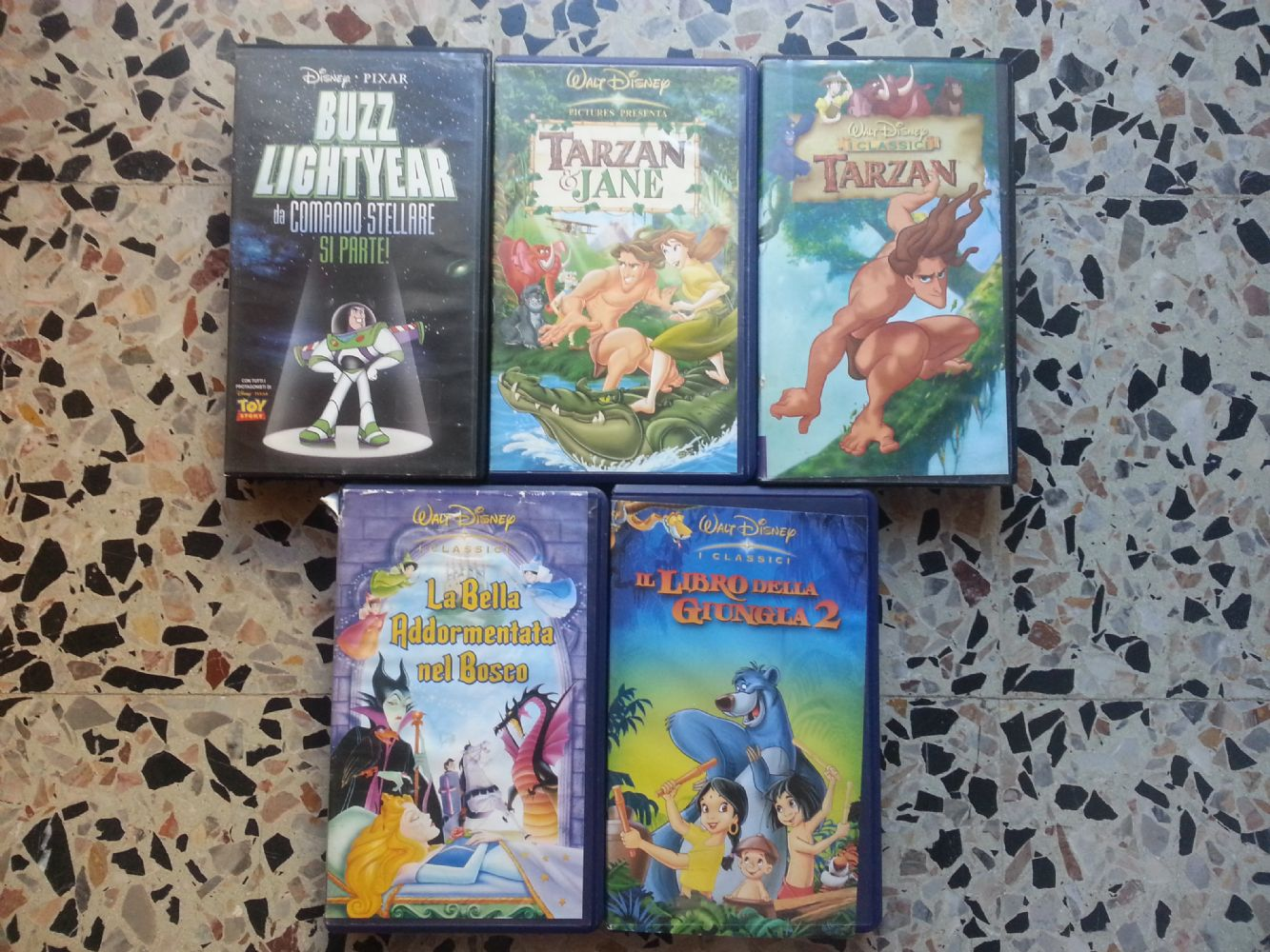 Baratto scambio lotto vhs cartoni animati musica e film film e
