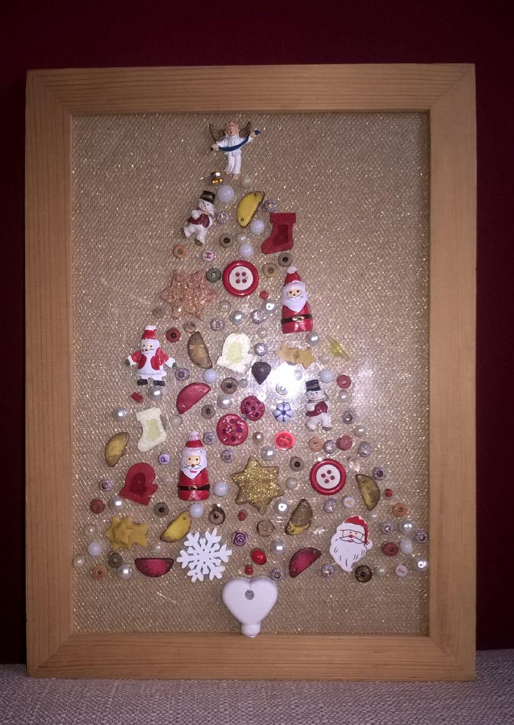 Lavoretti In Legno Per Natale quadro albero di natale