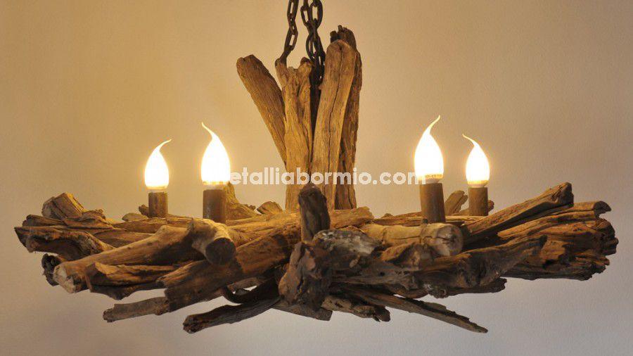 Plafoniere Da Montagna : Lampadario legno montagna lampadari casa di