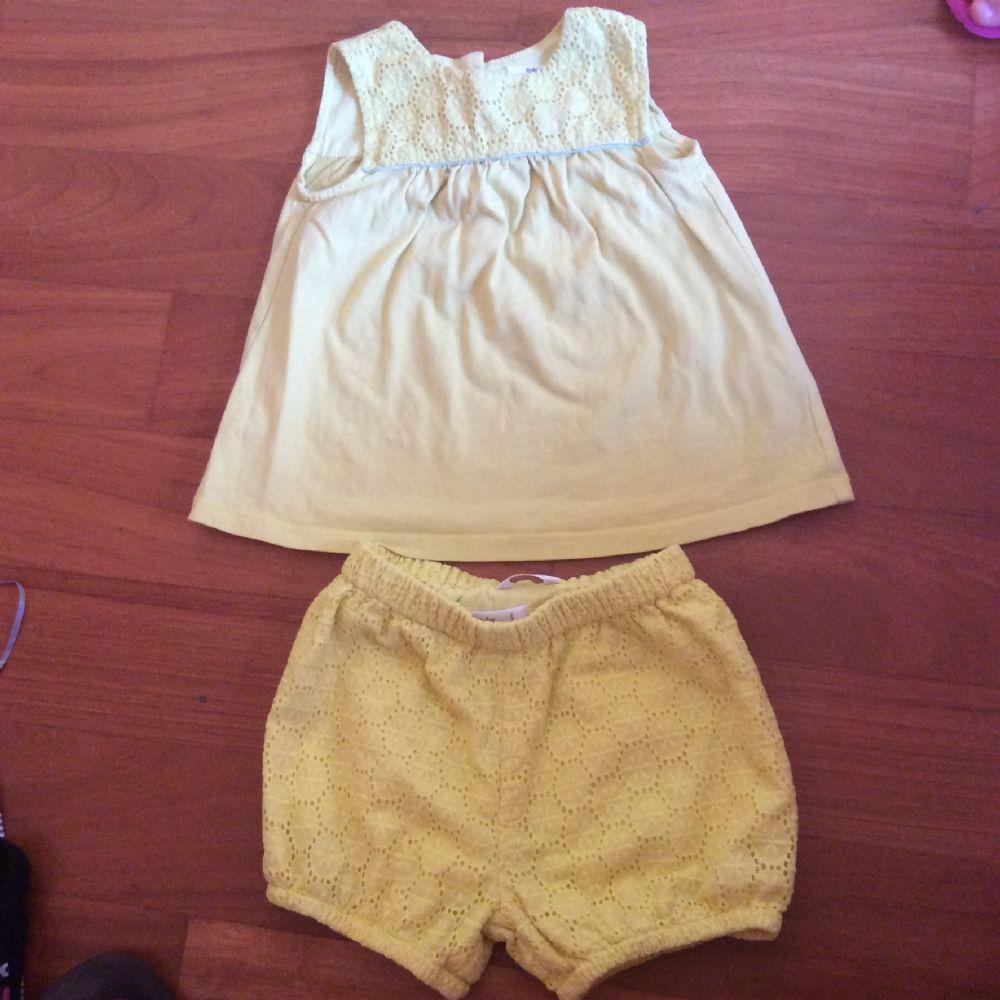 Descrizione Completino in cotone canotta svasata e pantaloncino Baby boden 343b8e8a641