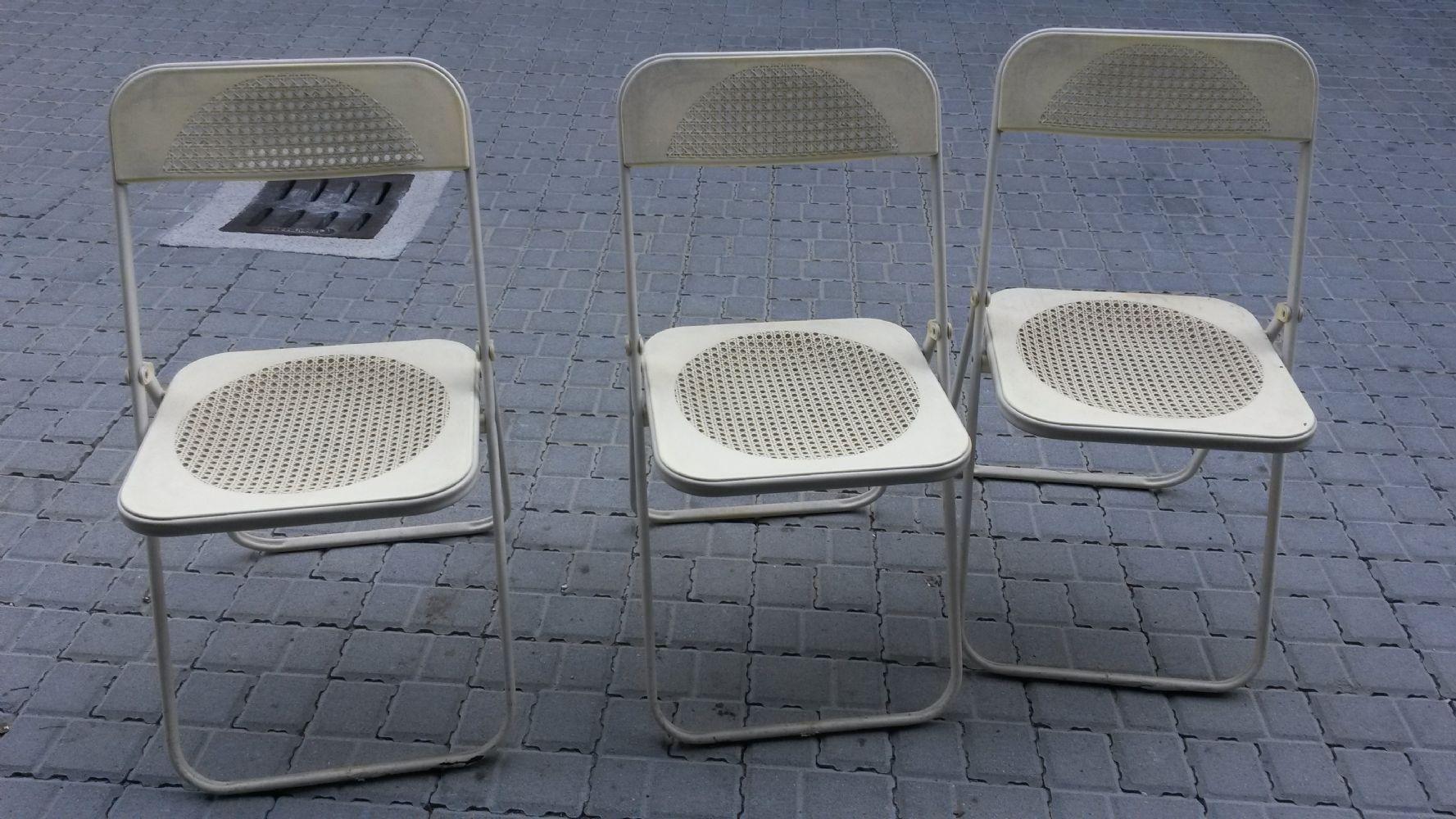 Sedie Plastica Pieghevoli Da Giardino.Baratto Scambio Regalo 3 Sedie Da Giardino Arredamento Esterno