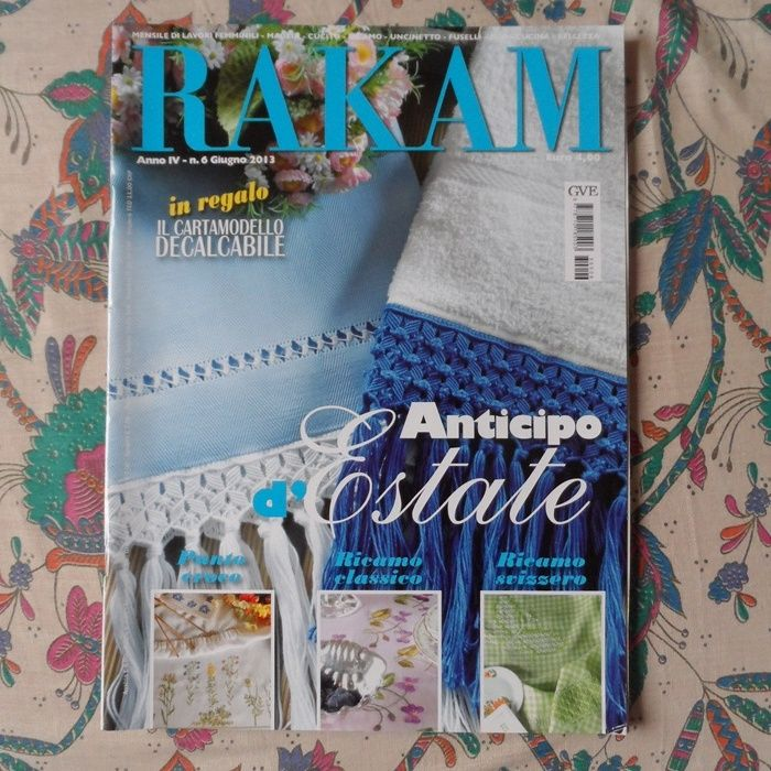83700549f266 Descrizione RIVISTE RAKAM come da foto.... RICAMO
